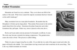 Print <i>Folded Mountains</i> reading comprehension.