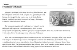 Print <i>Freedmen's Bureau</i> reading comprehension.