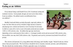 Print <i>Eating as an Athlete</i> reading comprehension.