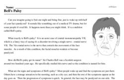 Print <i>Bell's Palsy</i> reading comprehension.