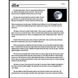 Print <i>Moon 101</i> reading comprehension.