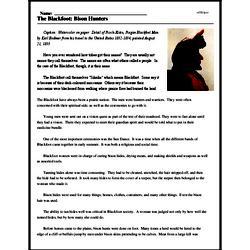 Print <i>The Blackfoot: Bison Hunters</i> reading comprehension.