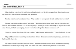 Print <i>The Bone Fires, Part 1</i> reading comprehension.