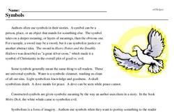 Print <i>Symbols</i> reading comprehension.